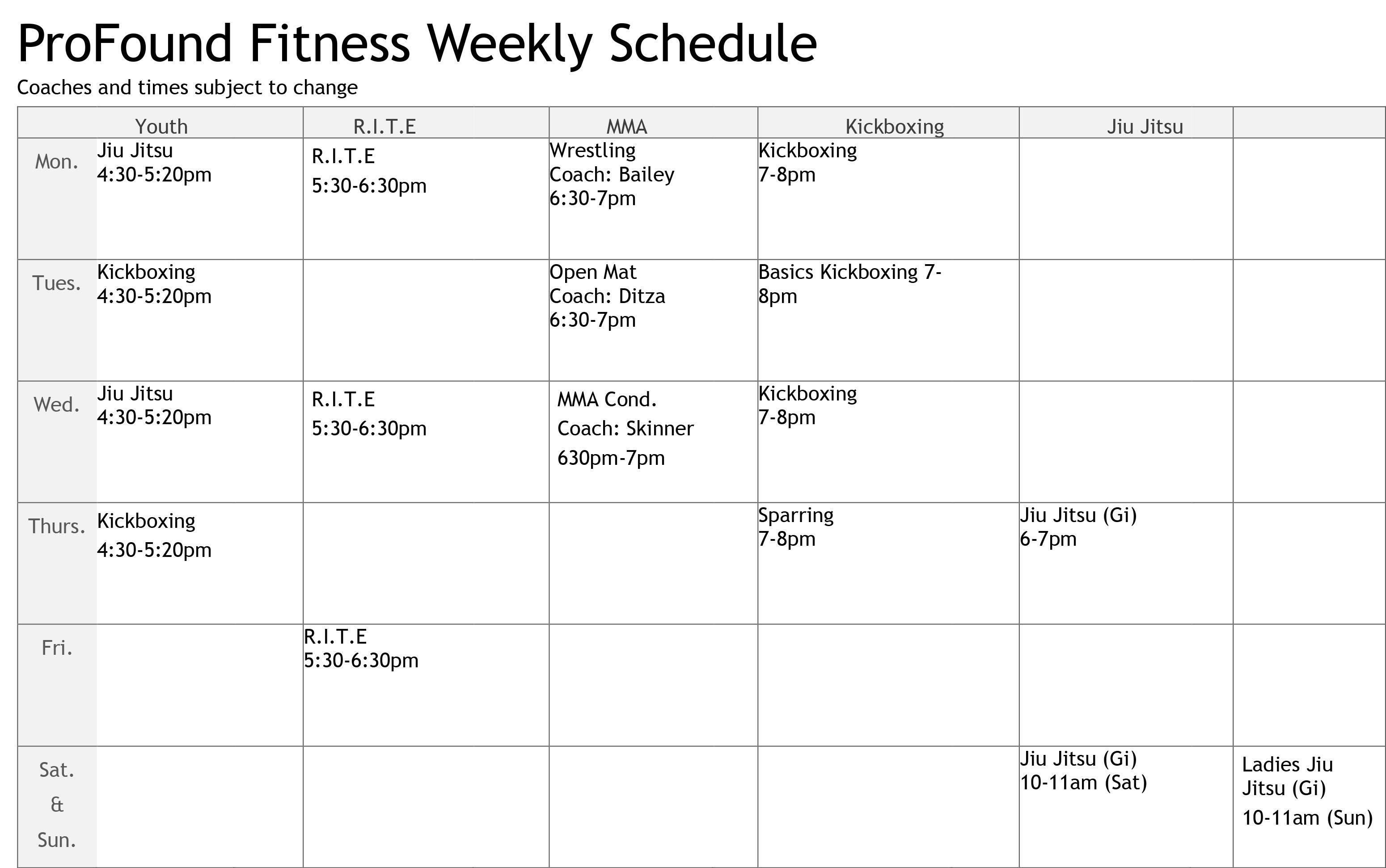 pf-schedule